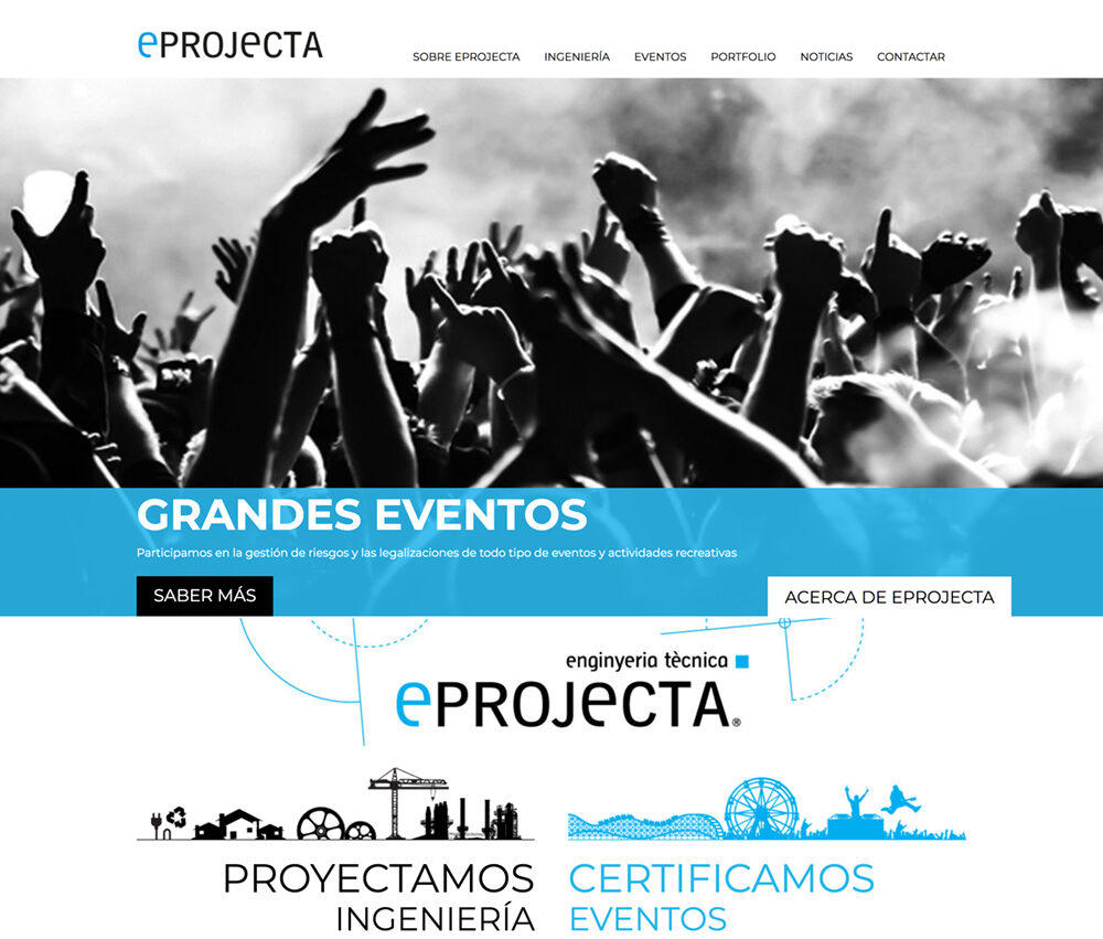 Mantenimiento WordPress a medida para eprojecta.cat